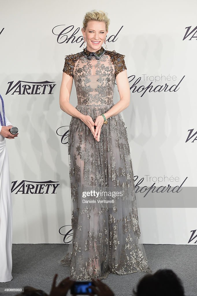 Actress Cate Blanchett attends the Chopard Trophy at the 67th Annual Cannes Film Festival on May 15 2014 in Cannes France