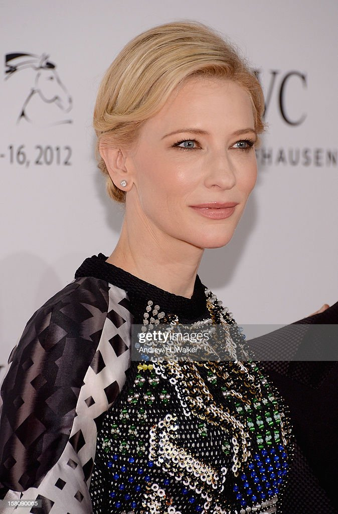 Actress Cate Blanchett attends the Dubai International Film Festival and IWC Schaffhausen Filmmaker Award Gala Dinner and Ceremony at the One and Only Mirage Hotel on December 10, 2012 in Dubai, United Arab Emirates.