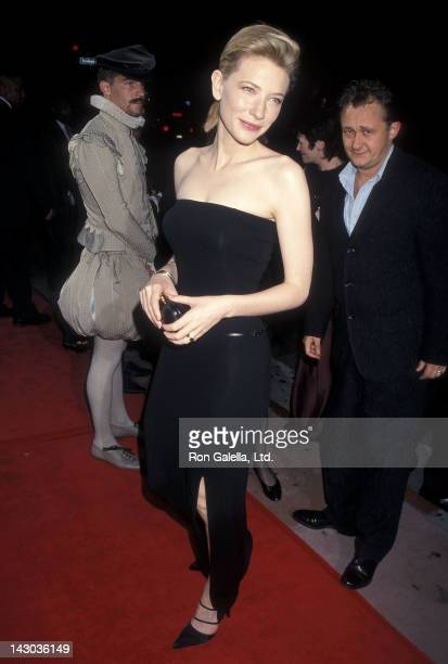 Actress Cate Blanchett attends the 'Elizabeth' Hollywood Premiere on October 14 1998 at the Showcase Theatre in Hollywood California