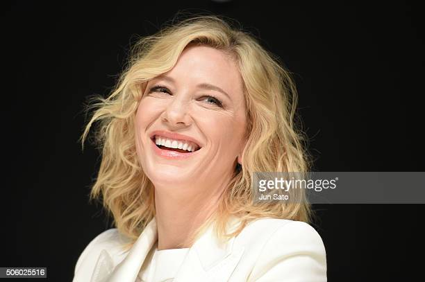 Actress Cate Blanchett attends the event for SKII Change Destiny Forum at the Prince Park Tower on January 21 2016 in Tokyo Japan