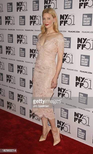 Actress Cate Blanchett attends the Gala Tribute To Cate Blanchett during the 51st New York Film Festival at Alice Tully Hall at Lincoln Center on...