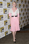 Actress Cate Blanchett attends 'The hobbit' press room on July 26 2014 in San Diego California