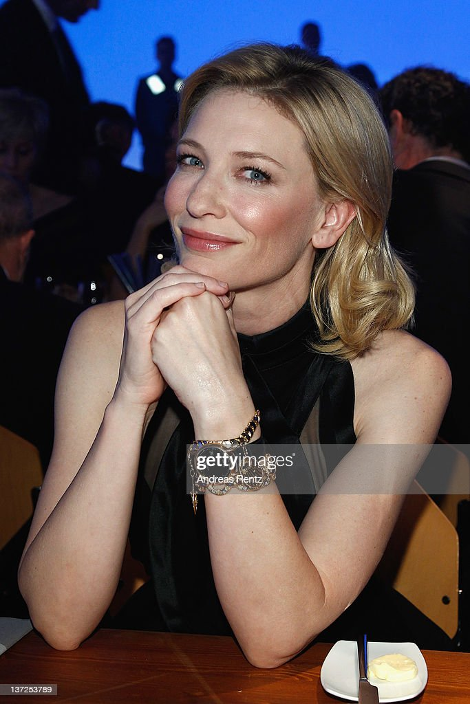 Actress <a gi-track='captionPersonalityLinkClicked' href=/galleries/search?phrase=Cate+Blanchett&family=editorial&specificpeople=201621 ng-click='$event.stopPropagation()'>Cate Blanchett</a> attends the IWC Schaffhausen Top Gun Gala Event during the 22nd SIHH High Jewellery Fair at the Palexpo Exhibition Hall on January 17, 2012 in Geneva, Switzerland.