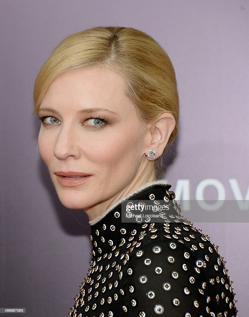 Actress Cate Blanchett attends 'The Monuments Men' premiere at Ziegfeld Theater on February 4, 2014 in New York City, New York.