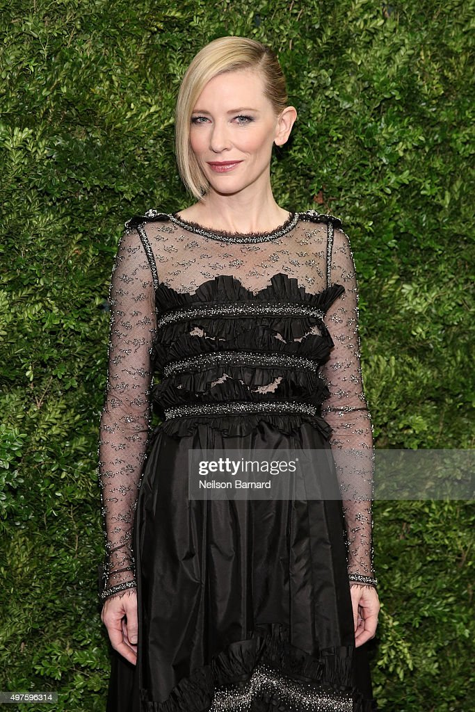 Actress <a gi-track='captionPersonalityLinkClicked' href=/galleries/search?phrase=Cate+Blanchett&family=editorial&specificpeople=201621 ng-click='$event.stopPropagation()'>Cate Blanchett</a> attends the Museum of Modern Art's 8th Annual Film Benefit Honoring <a gi-track='captionPersonalityLinkClicked' href=/galleries/search?phrase=Cate+Blanchett&family=editorial&specificpeople=201621 ng-click='$event.stopPropagation()'>Cate Blanchett</a> at Museum of Modern Art on November 17, 2015 in New York City.