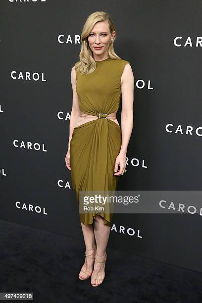 Actress Cate Blanchett attends the New York premiere of 'Carol' at the Museum of Modern Art on November 16 2015 in New York City