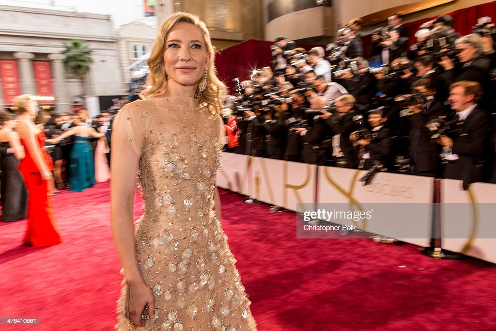 Actress Cate Blanchett attends the Oscars at Hollywood & Highland Center on March 2, 2014 in Hollywood, California.