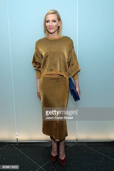 Actress Cate Blanchett attends the Pedro Almodovar Retrospective Opening Night at the Museum of Modern Art on November 29 2016 in New York City