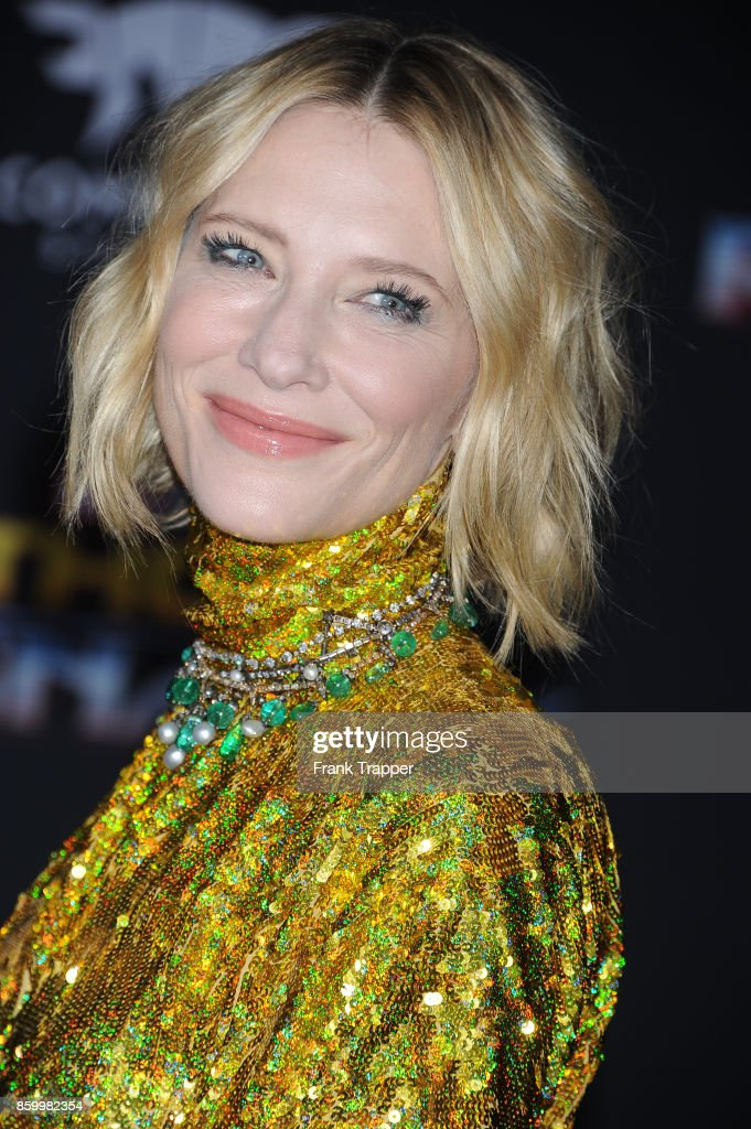 Actress Cate Blanchett attends the premiere of Disney and Marvel's 'Thor: Ragnarok' on October 10, 2017 at the El Capitan Theater in Hollywood, California.