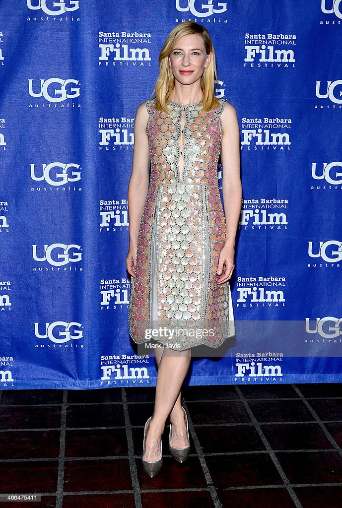 Actress <a gi-track='captionPersonalityLinkClicked' href=/galleries/search?phrase=Cate+Blanchett&family=editorial&specificpeople=201621 ng-click='$event.stopPropagation()'>Cate Blanchett</a> attends the presentation of the Outstanding Director Award at the Arlington Theatre at the 29th Santa Barbara International Film Festival on February 01, 2014 in Santa Barbara, California.