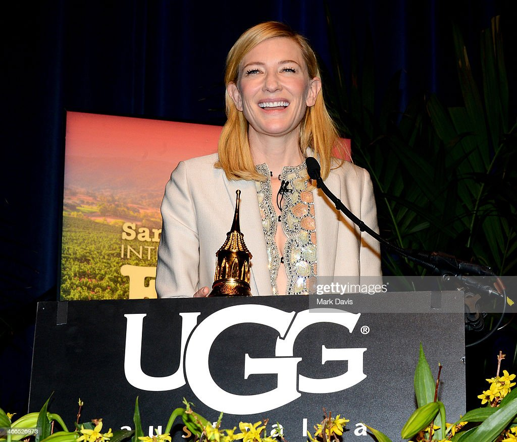 Actress <a gi-track='captionPersonalityLinkClicked' href=/galleries/search?phrase=Cate+Blanchett&family=editorial&specificpeople=201621 ng-click='$event.stopPropagation()'>Cate Blanchett</a> attends the presentation of the Outstanding Director Award at the Arlington Theatre at the 29th Santa Barbara International Film Festival on January 31, 2014 in Santa Barbara, California.