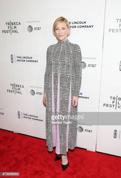 Actress Cate Blanchett attends the priemere of 'Manifesto' during 2017 Tribeca Film Festival the at Spring Studios on April 26 2017 in New York City
