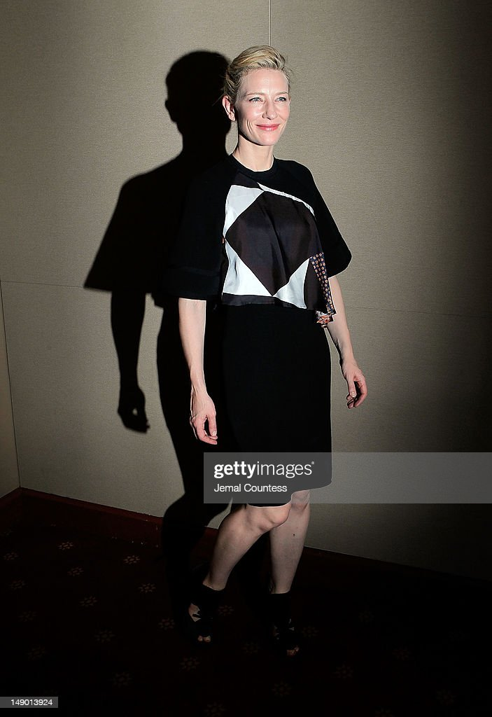 Actress <a gi-track='captionPersonalityLinkClicked' href=/galleries/search?phrase=Cate+Blanchett&family=editorial&specificpeople=201621 ng-click='$event.stopPropagation()'>Cate Blanchett</a> attends the 'Uncle Vanya' cast photo call at New York City Center on July 21, 2012 in New York City.