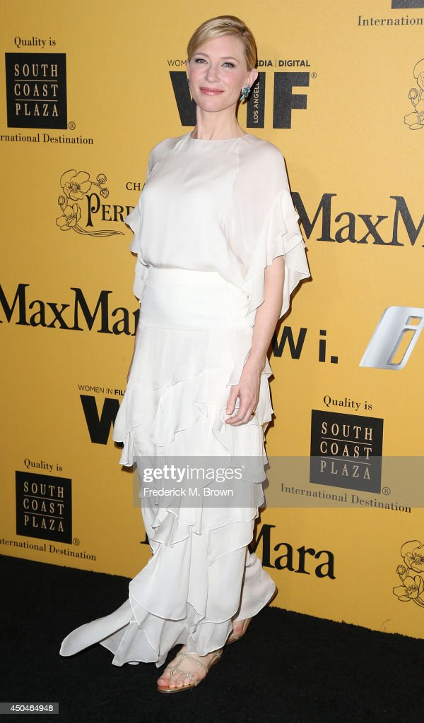 Actress <a gi-track='captionPersonalityLinkClicked' href=/galleries/search?phrase=Cate+Blanchett&family=editorial&specificpeople=201621 ng-click='$event.stopPropagation()'>Cate Blanchett</a> attends the Women In Film, Los Angeles Presents the 2014 Crystal + Lucy Awards at the Hyatt Regency Century Plaza Hotel on June 11, 2014 in Century City, California.