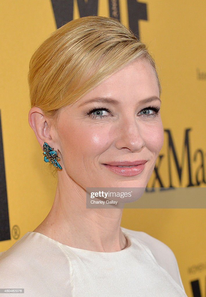 Actress <a gi-track='captionPersonalityLinkClicked' href=/galleries/search?phrase=Cate+Blanchett&family=editorial&specificpeople=201621 ng-click='$event.stopPropagation()'>Cate Blanchett</a> attends Women In Film 2014 Crystal + Lucy Awards presented by MaxMara, BMW, Perrier-Jouet and South Coast Plaza held at the Hyatt Regency Century Plaza on June 11, 2014 in Los Angeles, California.