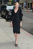 Actress Cate Blanchett enters the 'Late Show With David Letterman' taping at the Ed Sullivan Theater on July 22 2013 in New York City