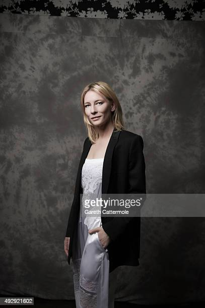Actress Cate Blanchett is photographed during the BFI London Film Festival at The Soho Hotel on October 14 2015 in London England
