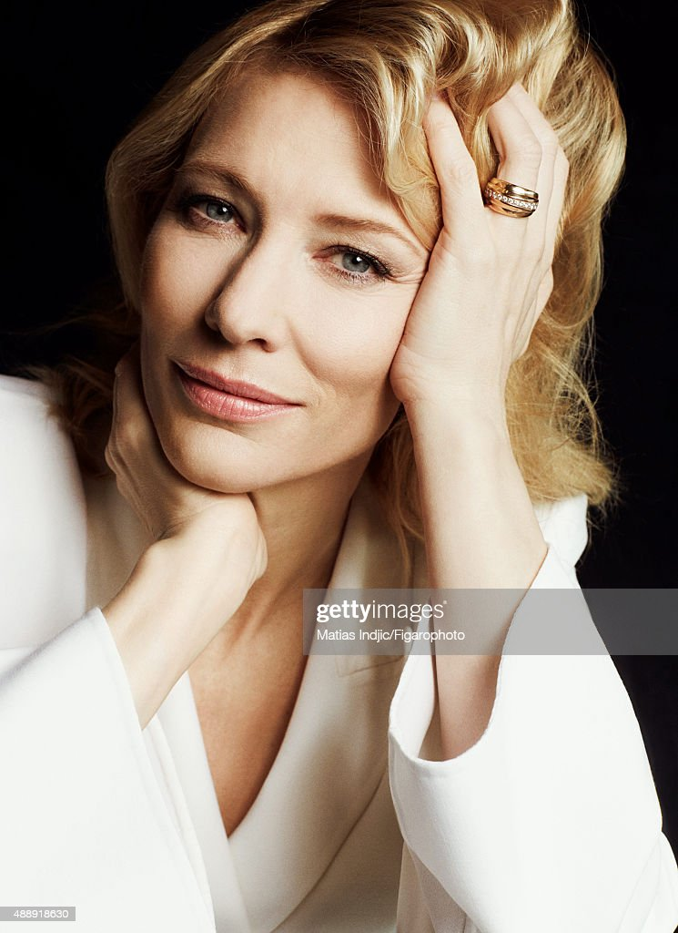Actress <a gi-track='captionPersonalityLinkClicked' href=/galleries/search?phrase=Cate+Blanchett&family=editorial&specificpeople=201621 ng-click='$event.stopPropagation()'>Cate Blanchett</a> is photographed for Madame Figaro on May 18, 2015 at the Cannes Film Festival in Cannes, France. Suit (Giorgio Armani). PUBLISHED IMAGE.