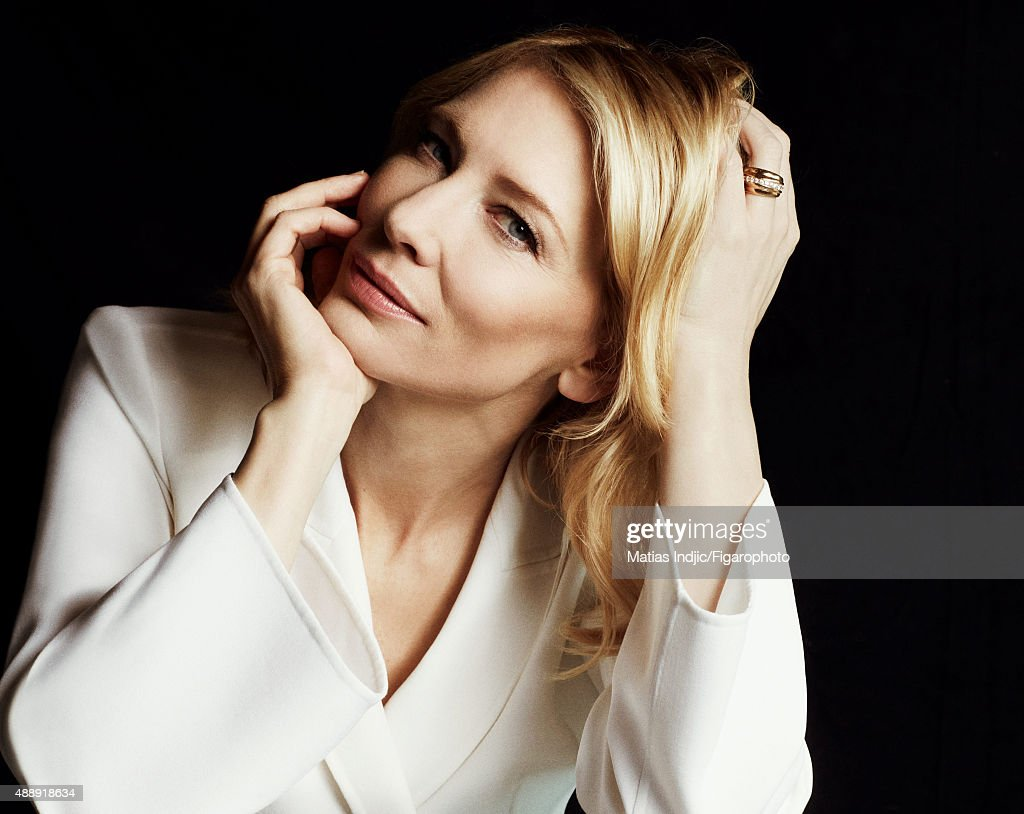 Actress <a gi-track='captionPersonalityLinkClicked' href=/galleries/search?phrase=Cate+Blanchett&family=editorial&specificpeople=201621 ng-click='$event.stopPropagation()'>Cate Blanchett</a> is photographed for Madame Figaro on May 18, 2015 at the Cannes Film Festival in Cannes, France. Suit (Giorgio Armani).