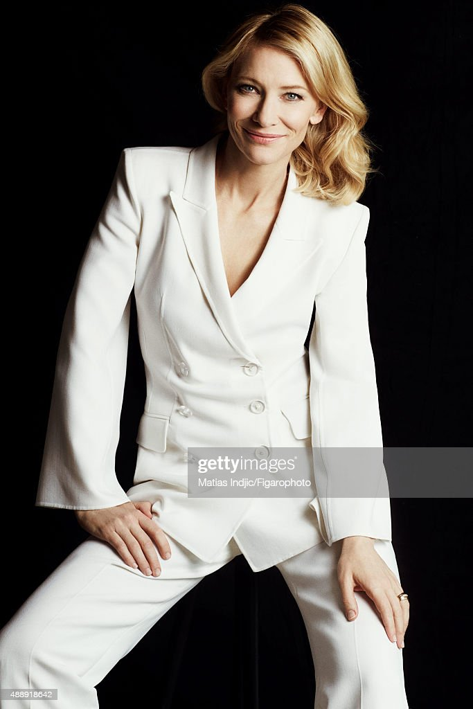 Actress Cate Blanchett is photographed for Madame Figaro on May 18, 2015 at the Cannes Film Festival in Cannes, France. Suit (Giorgio Armani).