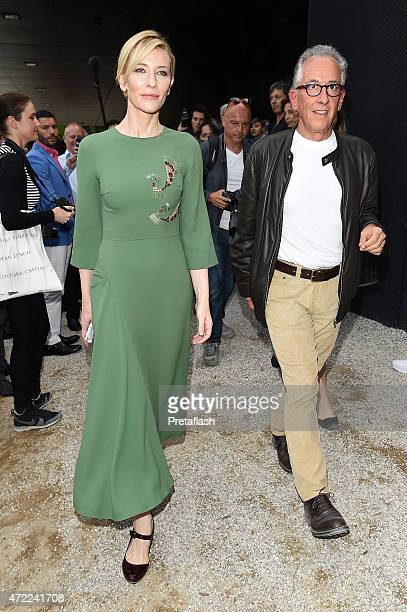 Actress Cate Blanchett is seen at Giardini Previews The 56th International Art Biennale on May 5 2015 in Venice Italy