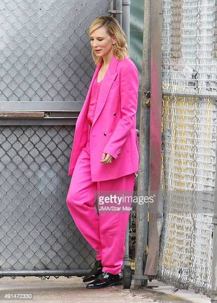 Actress Cate Blanchett is seen on October 5 2015 in Los Angeles CA