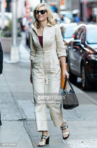 Actress Cate Blanchett is seen outside 'Good Morning America' on November 16 2015 in New York City