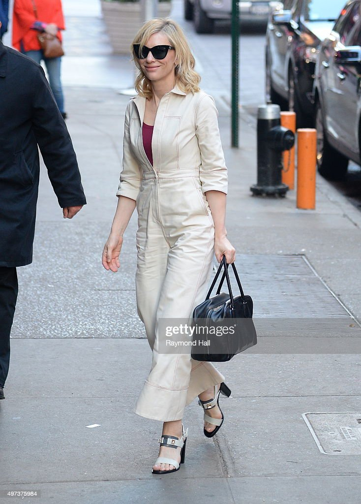 Actress Cate Blanchett is seen outside 'Good Morning America'on November 16 2015 in New York City