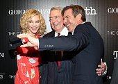 Actress Cate Blanchett journalist Dan Rather and actor Dennis Quaid attend the screening of Sony Pictures Classics' 'Truth' hosted by Giorgio Armani...