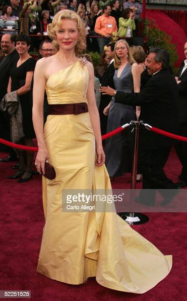 Actress Cate Blanchett nominated for Best Supporting Actress for her role in 'The Aviator' arrives at the 77th Annual Academy Awards at the Kodak...