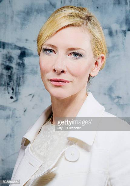 Actress Cate Blanchett of the film 'Carol' is photographed for Los Angeles Times on January 8 2016 in Los Angeles California PUBLISHED IMAGE CREDIT...