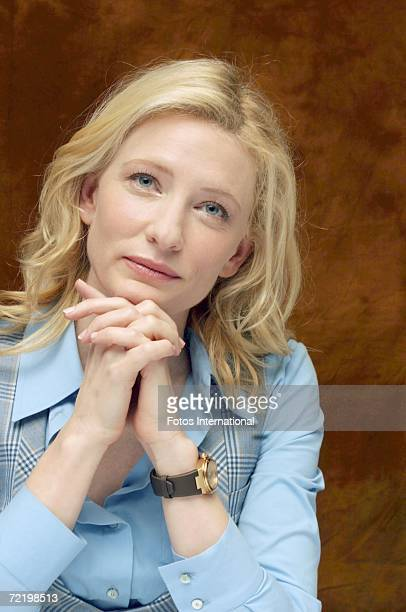 Actress Cate Blanchett talks at the Four Seasons Hotel on September 28 2006 in Los Angeles California