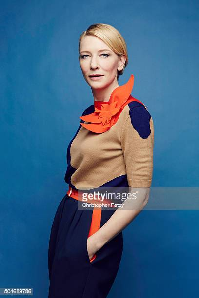 Actress Cate Blanchett wearing Delpozo poses for a portrait at the 2016 Film Independent Filmmaker Grant And Spirit Award Nominees Brunch on January...