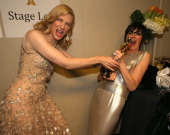 Actress Cate Blanchett winner of Best Performance by an Actress in a Leading Role poses backstage during the Oscars held at Dolby Theatre on March 2...