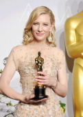 Actress Cate Blanchett winner of Best Performance by an Actress in a Leading Role poses in the press room during the 86th Annual Academy Awards at...