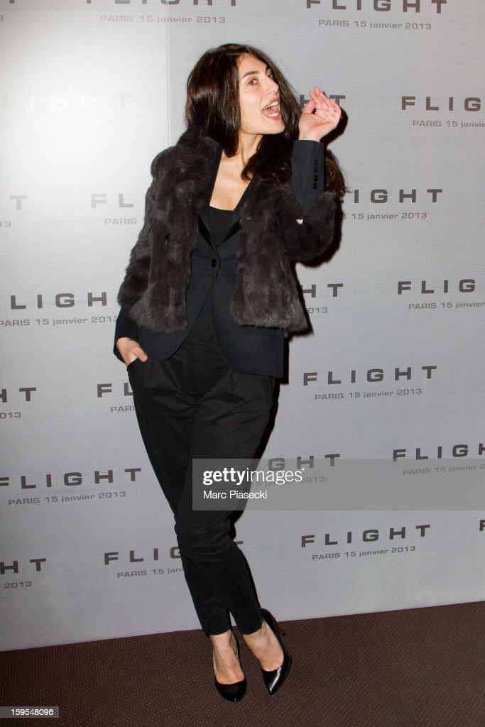 Actress Caterina Murino attends the 'Flight' Paris Premiere at Cinema Gaumont Marignan on January 15, 2013 in Paris, France.