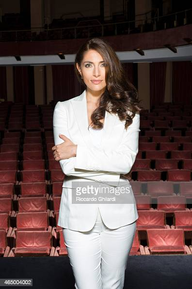 Actress Caterina Murino is photographed for Self Assignment on July 24 2014 in Rome Italy