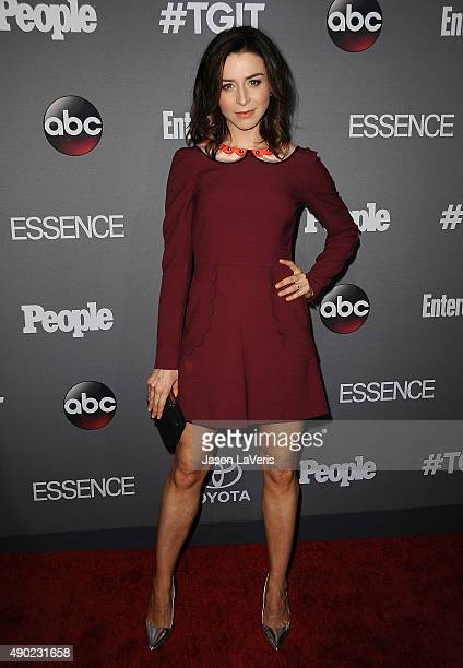 Actress Caterina Scorsone attends ABC's TGIT premiere event on September 26 2015 in West Hollywood California