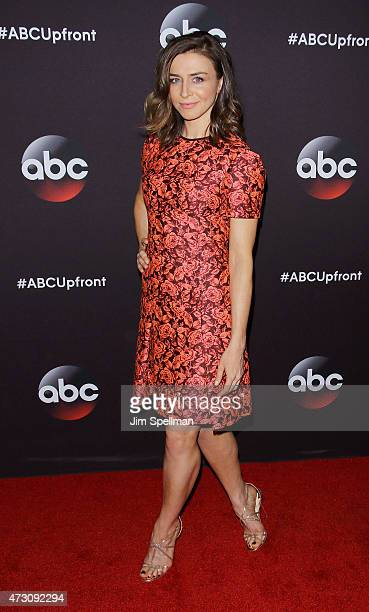 Actress Caterina Scorsone attends the 2015 ABC upfront presentation at Avery Fisher Hall at Lincoln Center for the Performing Arts on May 12 2015 in...