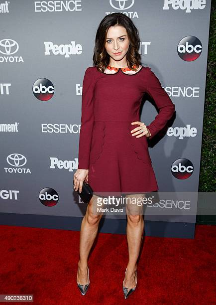 Actress Caterina Scorsone attends the celebration of ABC's TGIT Lineup held at Gracias Madre on September 26 2015 in West Hollywood California