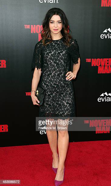 Actress Caterina Scorsone attends the Premiere of Relativity Media's 'The November Man' at the TCL Chinese Theatre on August 13 2014 in Hollywood...