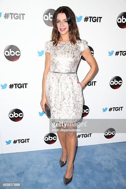 Actress Caterina Scorsone attends the TGIT Premiere event at Palihouse on September 20 2014 in West Hollywood California