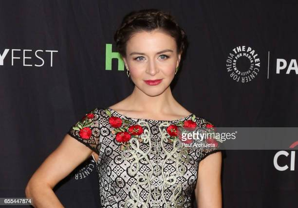 Actress Caterina Scorsone attends the The Paley Center For Media's 34th Annual PaleyFest Los Angeles 'Grey's Anatomy' at Dolby Theatre on March 19...