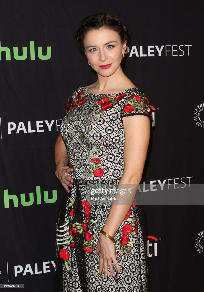 Actress Caterina Scorsone attends the The Paley Center For Media's 34th Annual PaleyFest Los Angeles - 'Grey's Anatomy' at Dolby Theatre on March 19, 2017 in Hollywood, California.
