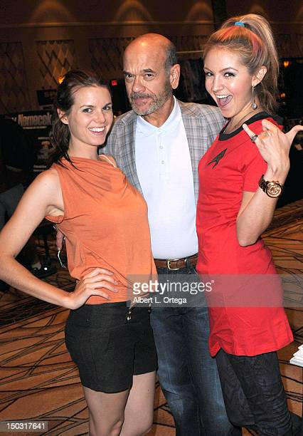Actress Catherine Annette actor Robert Picardo and actress Madison Dylan participate in the 11th Annual Official Star Trek Convention day 4 held at...