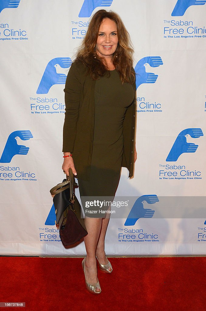 Actress <a gi-track='captionPersonalityLinkClicked' href=/galleries/search?phrase=Catherine+Bach&family=editorial&specificpeople=848213 ng-click='$event.stopPropagation()'>Catherine Bach</a> arrives at The Saban Free Clinic's Gala Honoring ABC Entertainment Group President Paul Lee and Bob Broder at The Beverly Hilton Hotel on November 19, 2012 in Beverly Hills, California.