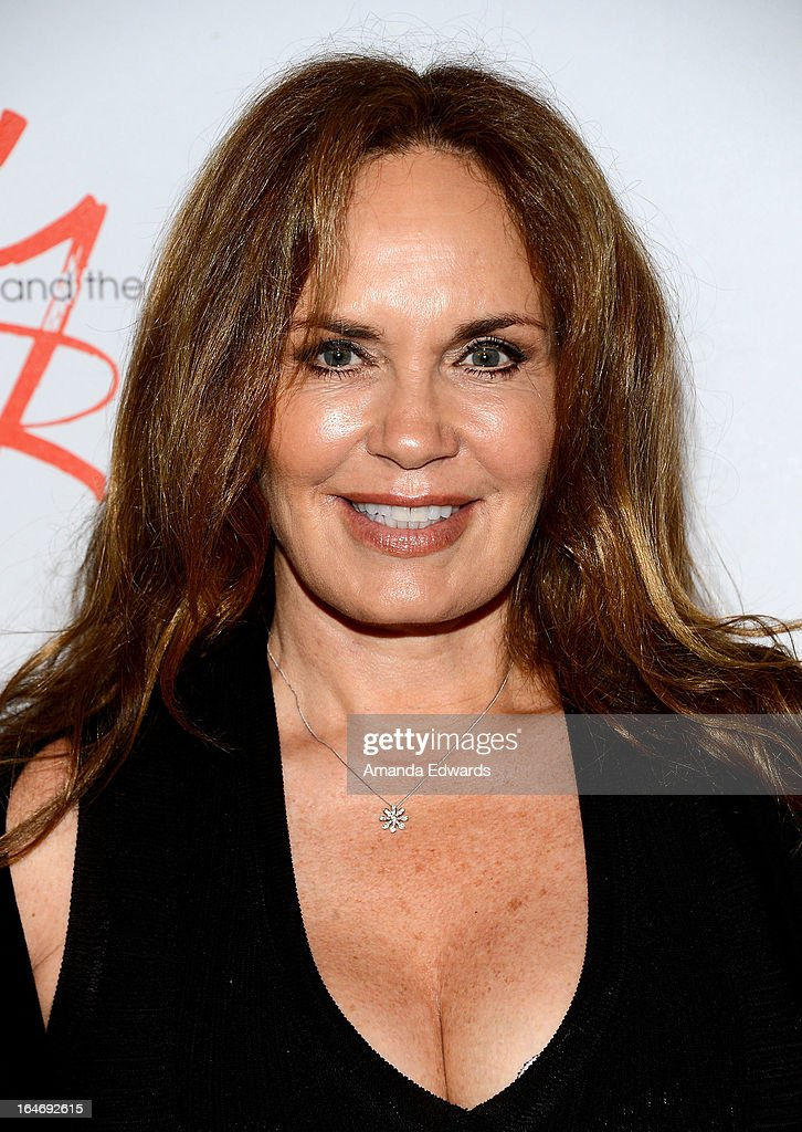 Actress Catherine Bach attends the 'The Young & The Restless' 40th anniversary cake-cutting ceremony at CBS Television City on March 26, 2013 in Los Angeles, California.