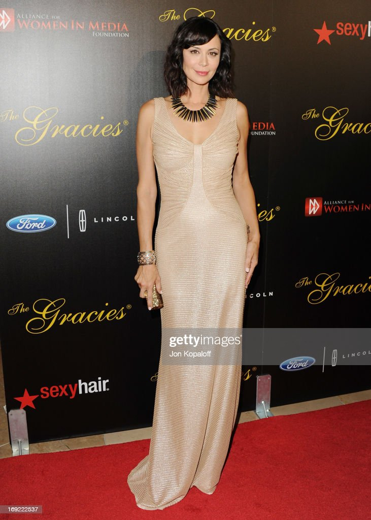 Actress Catherine Bell arrives 38th Annual Gracie Awards Gala at The Beverly Hilton Hotel on May 21, 2013 in Beverly Hills, California.