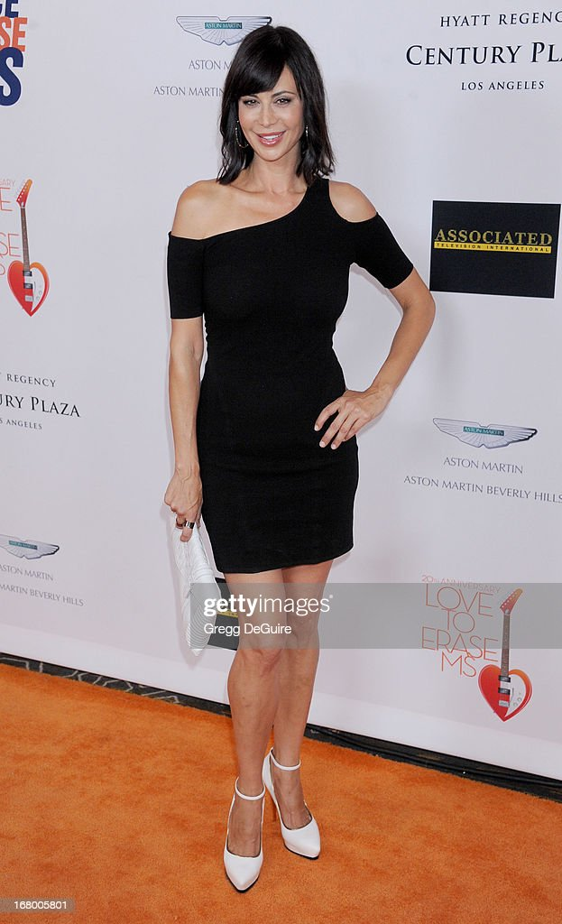 Actress Catherine Bell arrives at the 20th Annual Race To Erase MS Gala 'Love To Erase MS' at the Hyatt Regency Century Plaza on May 3, 2013 in Century City, California.