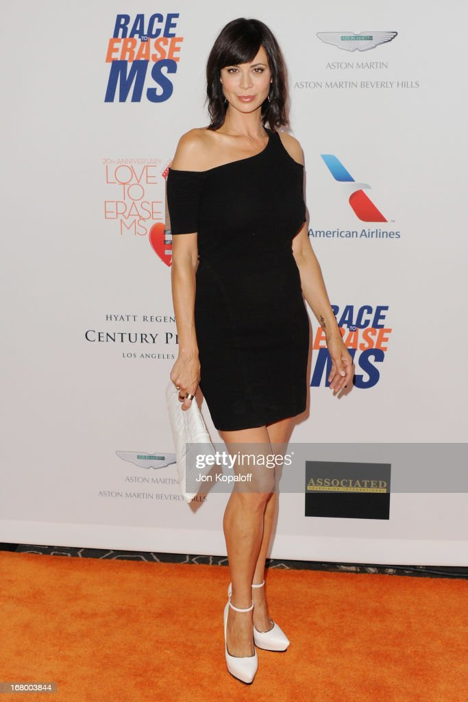 Actress Catherine Bell arrives at the 20th Annual Race To Erase MS 'Love To Erase MS' Gala at the Hyatt Regency Century Plaza on May 3, 2013 in Century City, California.